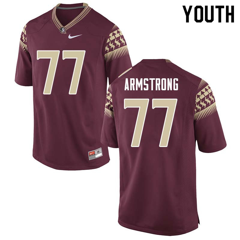 Youth #77 Christian Armstrong Florida State Seminoles College Football Jerseys Sale-Garnet