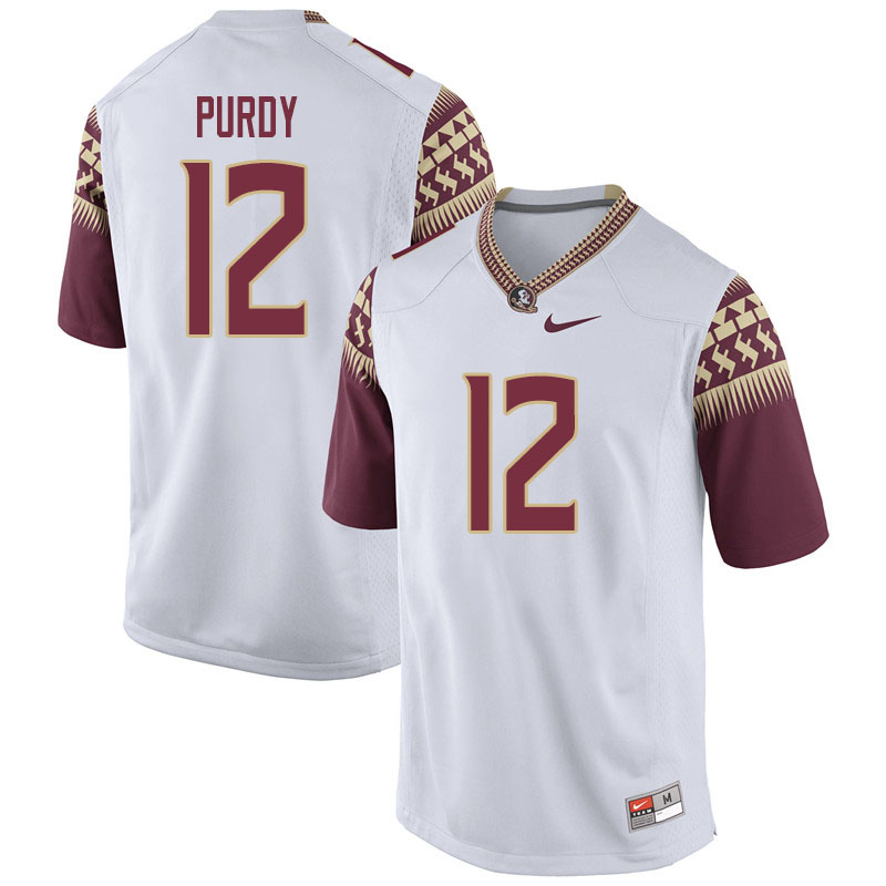 Youth #12 Chubba Purdy Florida State Seminoles College Football Jerseys Sale-White