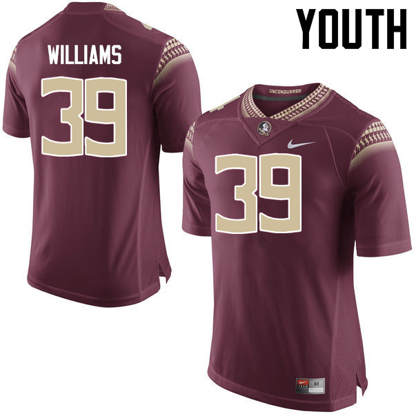 Youth #39 Claudio Williams Florida State Seminoles College Football Jerseys-Garnet