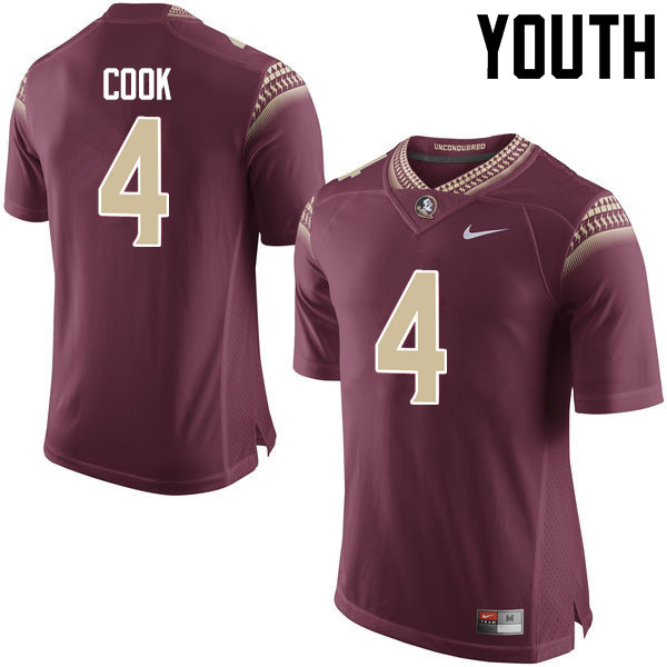 Youth #4 Dalvin Cook Florida State Seminoles College Football Jerseys-Garnet
