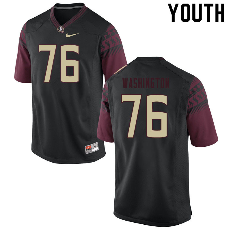 Youth #76 Darius Washington Florida State Seminoles College Football Jerseys Sale-Black