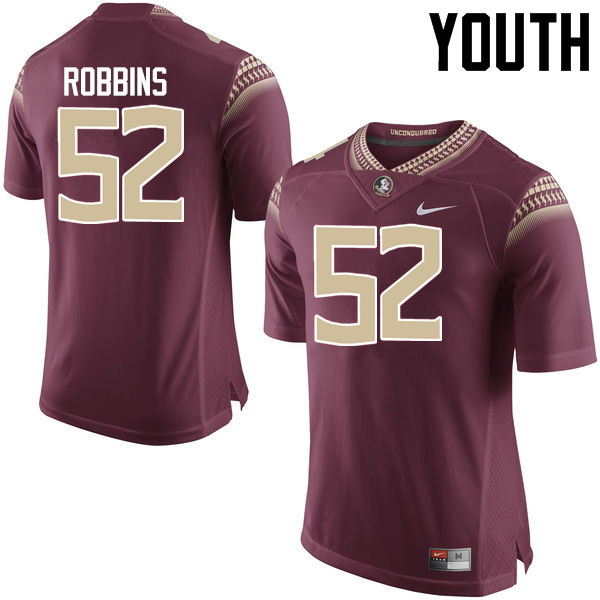 Youth #52 David Robbins Florida State Seminoles College Football Jerseys-Garnet