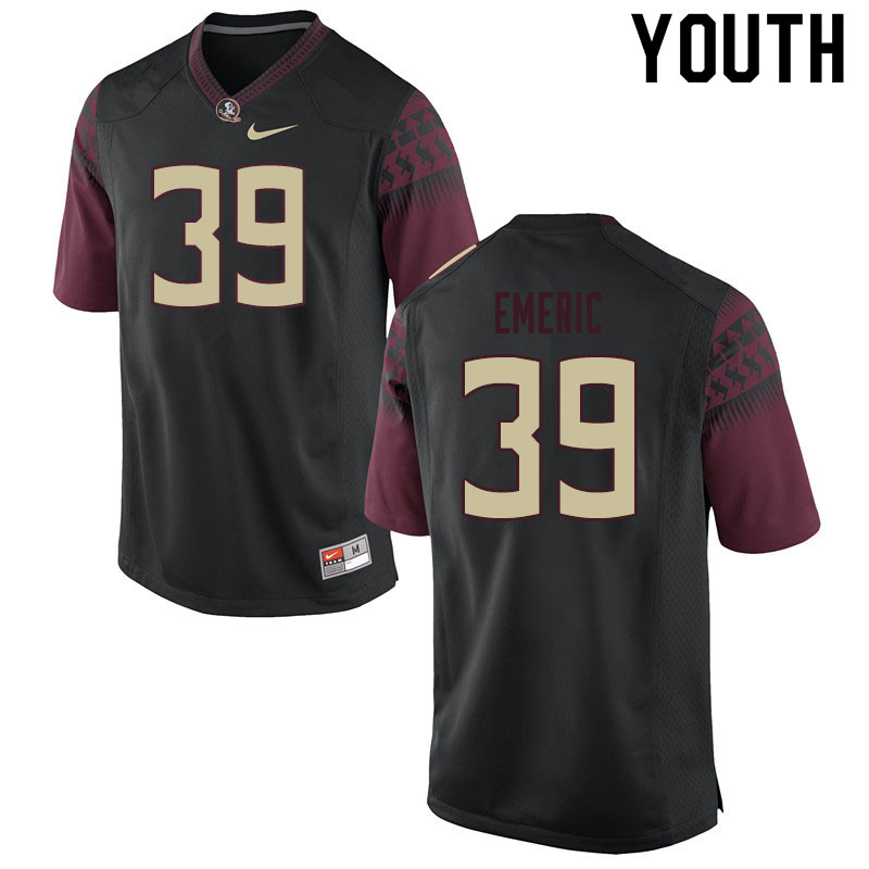 Youth #39 Deaundre Emeric Florida State Seminoles College Football Jerseys Sale-Black