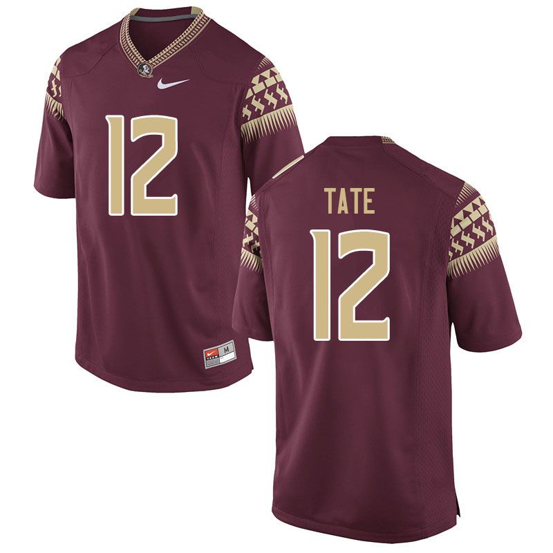 Youth #12 Demorie Tate Florida State Seminoles College Football Jerseys Sale-Garnet