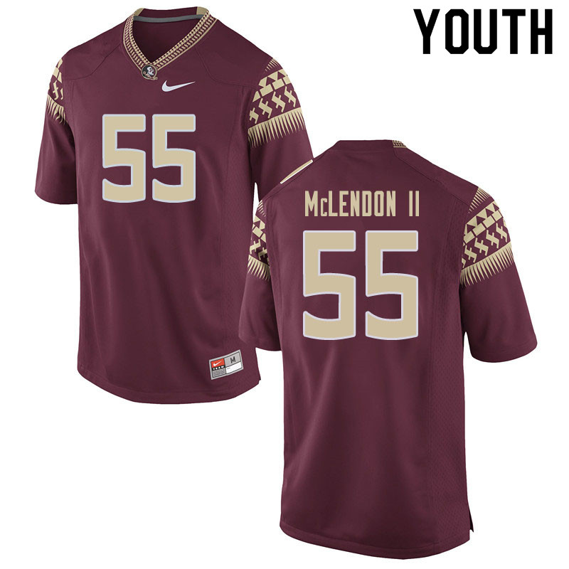 Youth #55 Derrick Mclendon II Florida State Seminoles College Football Jerseys Sale-Garnet