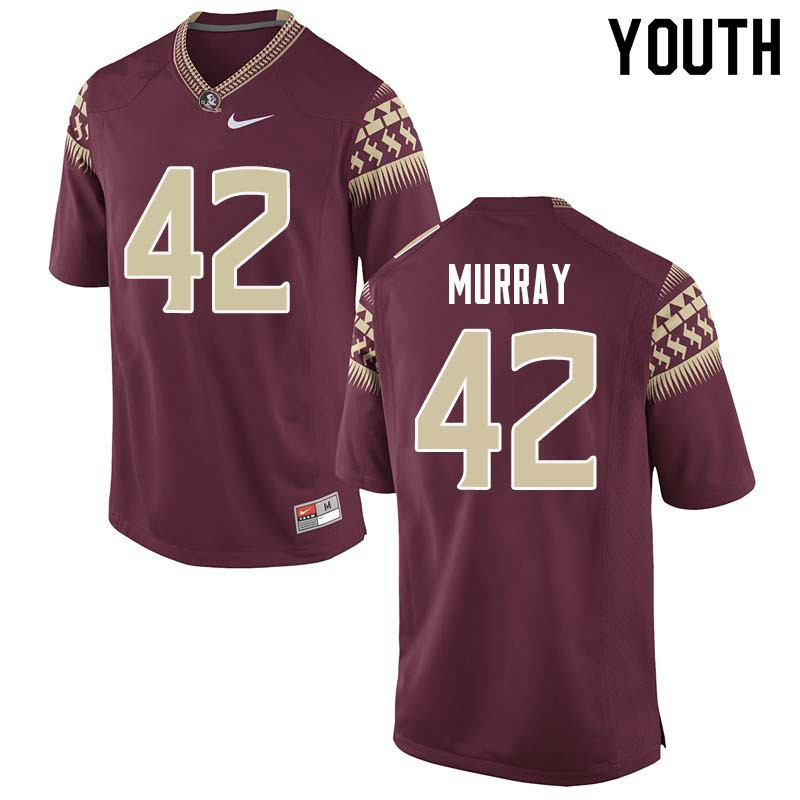 Youth #42 Garrett Murray Florida State Seminoles College Football Jerseys Sale-Garnet