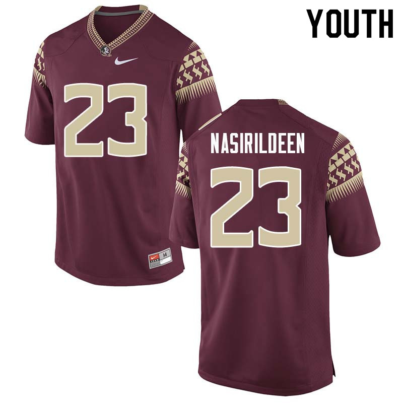 Youth #23 Hamsah Nasirildeen Florida State Seminoles College Football Jerseys Sale-Garnet