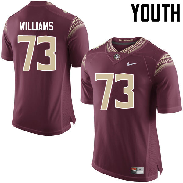 Youth #73 Jauan Williams Florida State Seminoles College Football Jerseys-Garnet