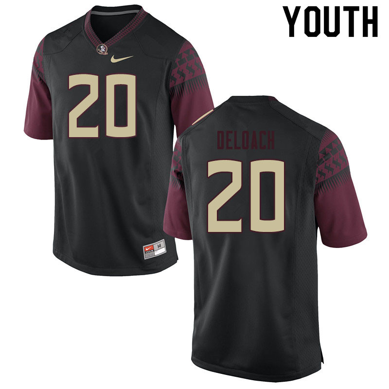 Youth #20 Kalen Deloach Florida State Seminoles College Football Jerseys Sale-Black