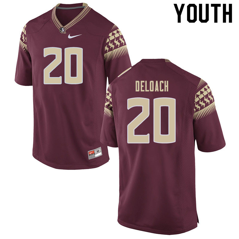 Youth #20 Kalen Deloach Florida State Seminoles College Football Jerseys Sale-Garnet