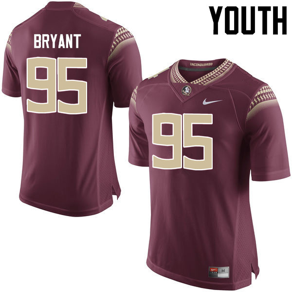 Youth #95 Keith Bryant Florida State Seminoles College Football Jerseys-Garnet