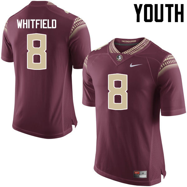 Youth #8 Kermit Whitfield Florida State Seminoles College Football Jerseys-Garnet
