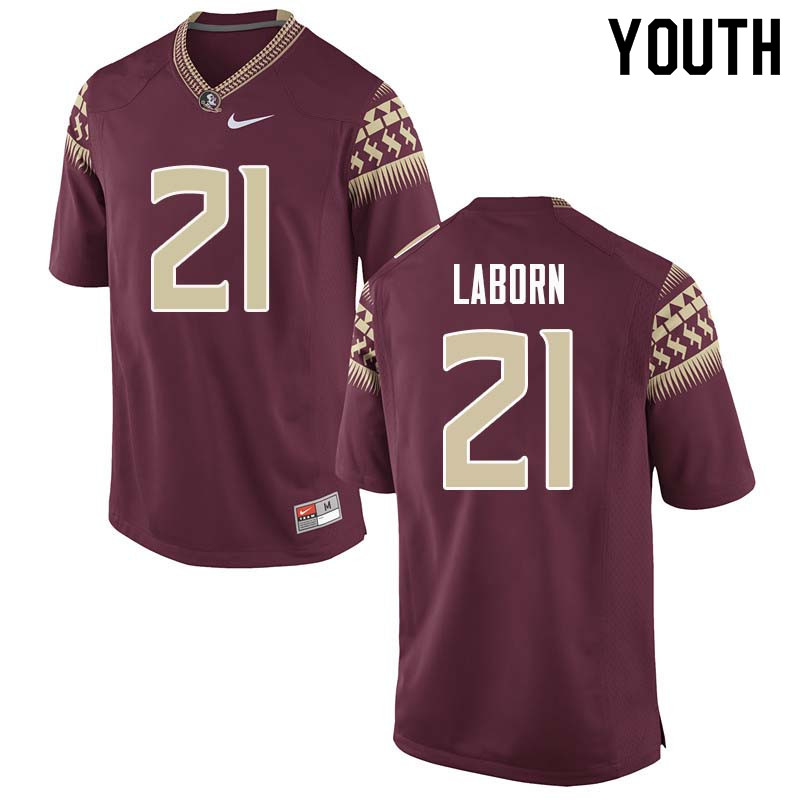 Youth #21 Khalan Laborn Florida State Seminoles College Football Jerseys Sale-Garnet