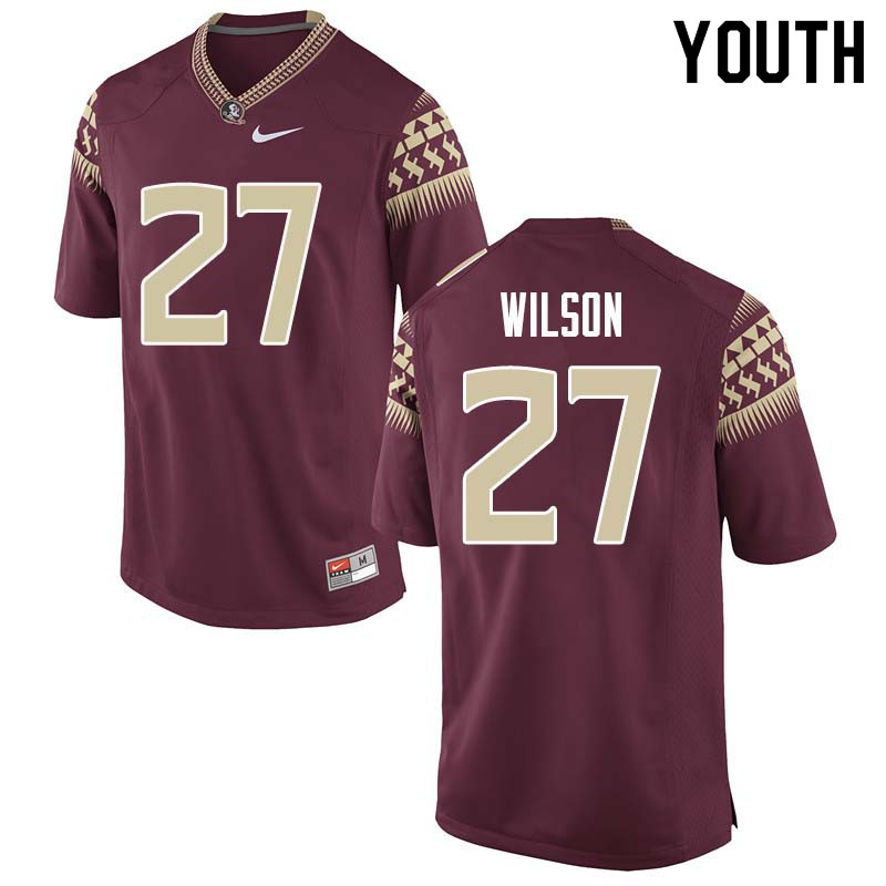 Youth #27 Ontaria Wilson Florida State Seminoles College Football Jerseys Sale-Garnet