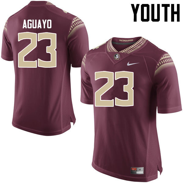 Youth #23 Ricky Aguayo Florida State Seminoles College Football Jerseys-Garnet