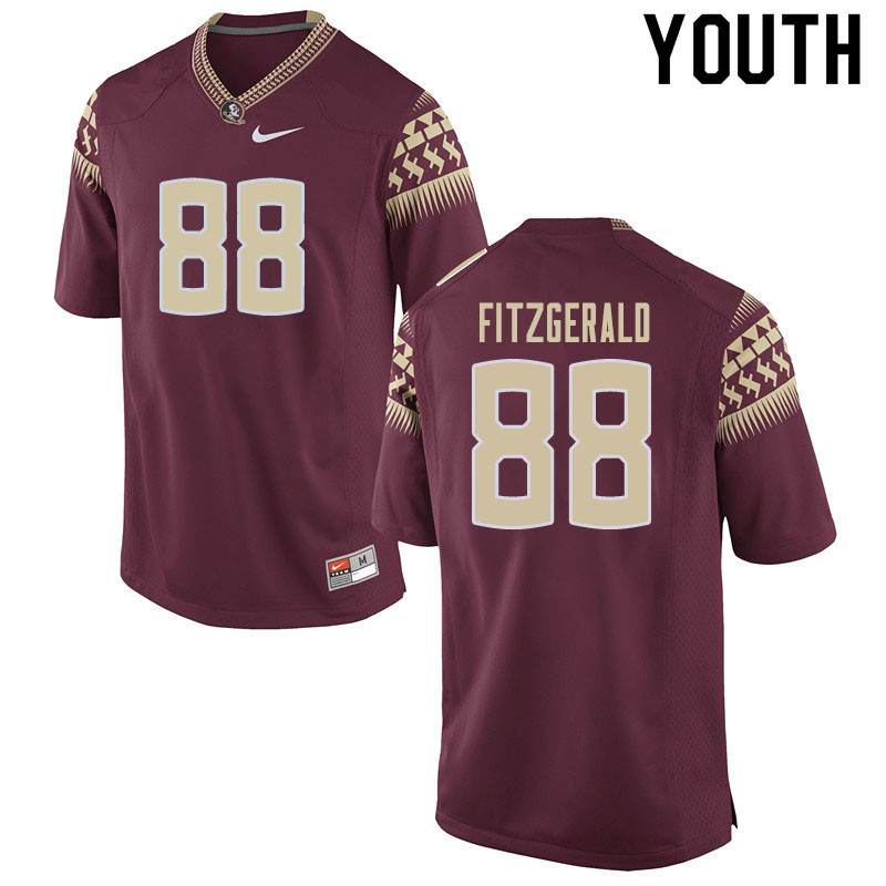 Youth #88 Ryan Fitzgerald Florida State Seminoles College Football Jerseys Sale-Garnet