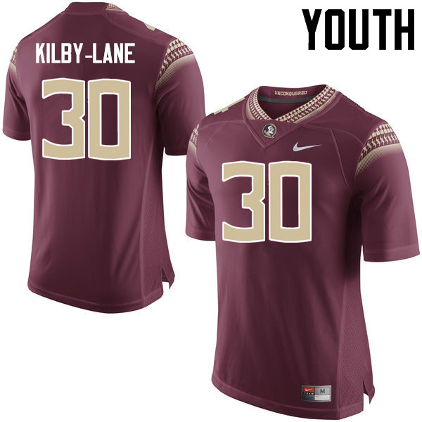 Youth #30 ShMar Kilby-Lane Florida State Seminoles College Football Jerseys-Garnet