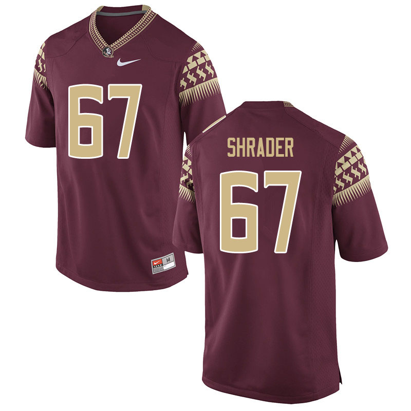 Youth #67 Thomas Shrader Florida State Seminoles College Football Jerseys Sale-Garnet