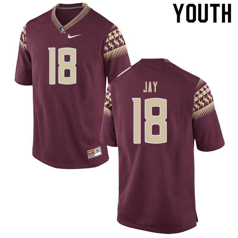 Youth #18 Travis Jay Florida State Seminoles College Football Jerseys Sale-Garnet