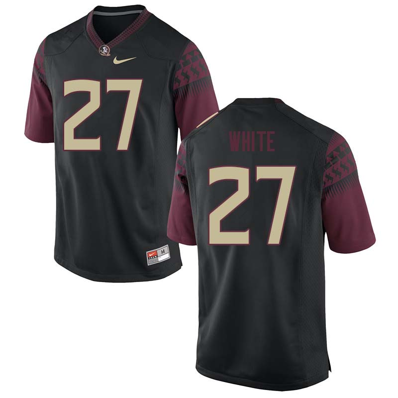 Men #27 Zaquandre White Florida State Seminoles College Football Jerseys Sale-Black
